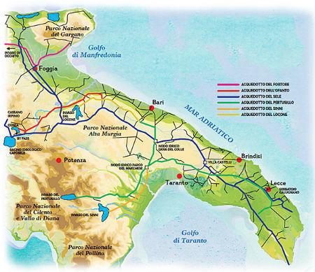 Regione Puglia Cartina Stradale.Mappa Geografica Regione Puglia Colite Sintomi